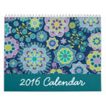 2016 Chic Girly Patterns - You can change the size Calendar