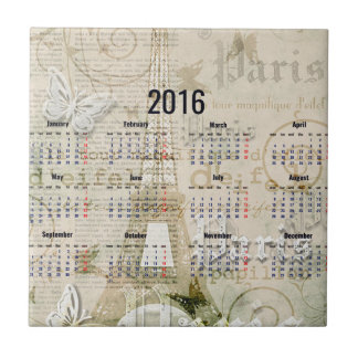 2016 Eiffel Tower Paris New Year Gifts Tile