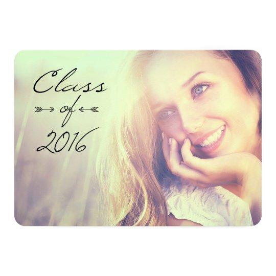 2016 Elegant Graduation Open House Invitations