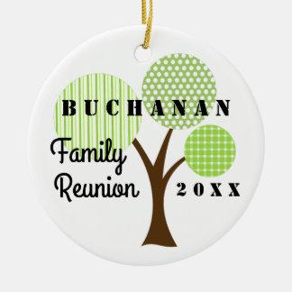 2016 Family Reunion Whimsical Tree Souvenir Gift Round Ceramic Ornament