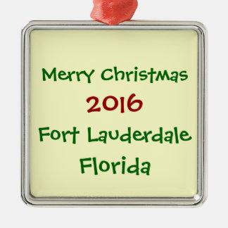 2016 FORT LAUDERDALE FLORIDA CHRISTMAS ORNAMENT