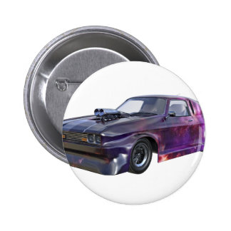 2016 Galaxy Purple Muscle Car 2 Inch Round Button