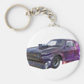 2016 Galaxy Purple Muscle Car Keychain