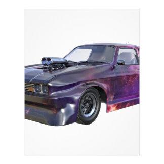 2016 Galaxy Purple Muscle Car Letterhead Template