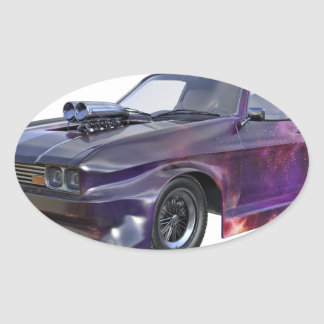 2016 Galaxy Purple Muscle Car Oval Sticker