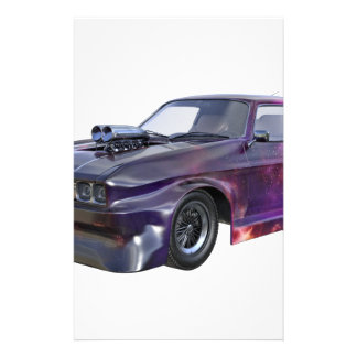 2016 Galaxy Purple Muscle Car Personalized Stationery