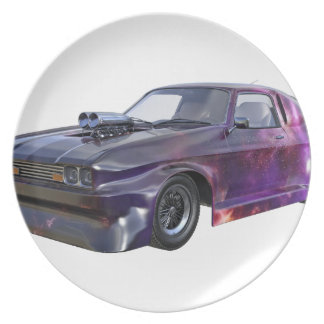 2016 Galaxy Purple Muscle Car Plate