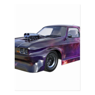 2016 Galaxy Purple Muscle Car Postcard