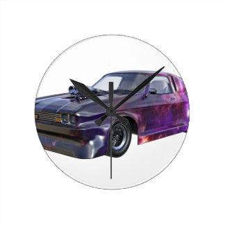 2016 Galaxy Purple Muscle Car Round Clock