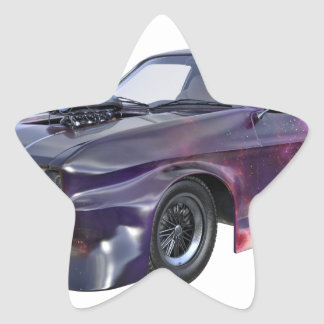 2016 Galaxy Purple Muscle Car Star Sticker