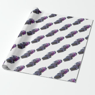 2016 Galaxy Purple Muscle Car Wrapping Paper