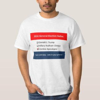 2016 General Election Ballot Trump Clinton Zombie T-Shirt