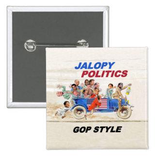 2016 GOP Clown Car 2 Inch Square Button