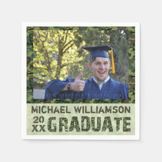 2016 Graduation Party Custom Photo Camouflage Disposable Napkin
