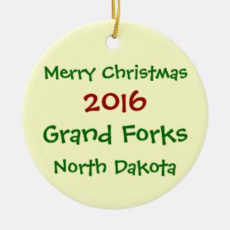 2016 GRAND FORKS NORTH DAKOTA CHRISTMAS ORNAMENT