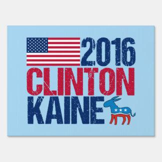 2016 Hillary Clinton Tim Kaine Blue Sign