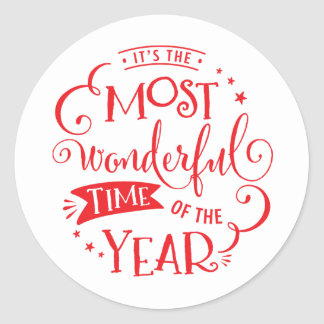 2016 HOLIDAY SEAL most wonderful time of the year