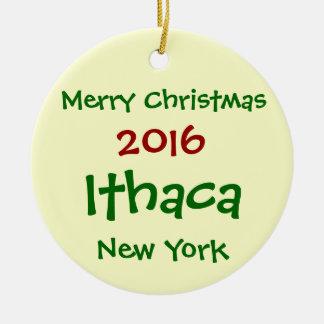 2016 ITHACA NEW YORK MERRY CHRISTMAS ORNAMENT