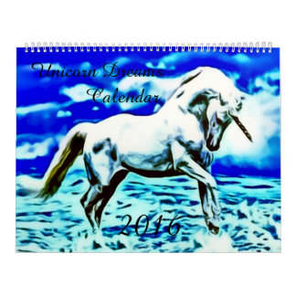 2016 Large Unicorn Dreams Airbrush Art Calendar