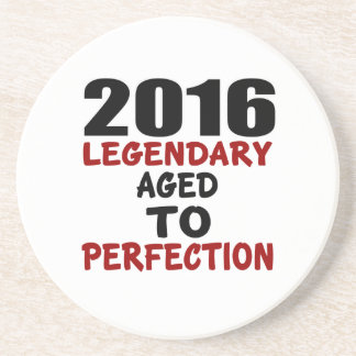2016 LEGENDARY AGED TO PERFECTION BEVERAGE COASTER