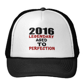 2016 LEGENDARY AGED TO PERFECTION TRUCKER HAT