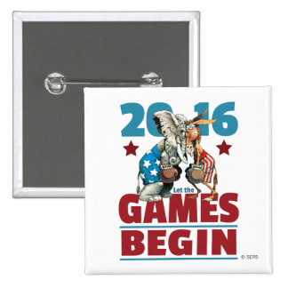 2016 - Let the Games Begin 2 Inch Square Button