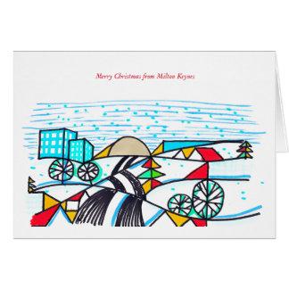 2016 Milton Keynes Christmas Card by Robert Rusin