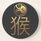2016 Monkey Year with Gold embossed effect -1- Coaster