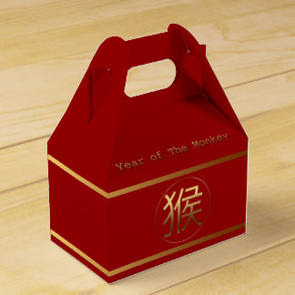 2016 Monkey Year with Gold embossed effect F. Box Party Favor Boxes