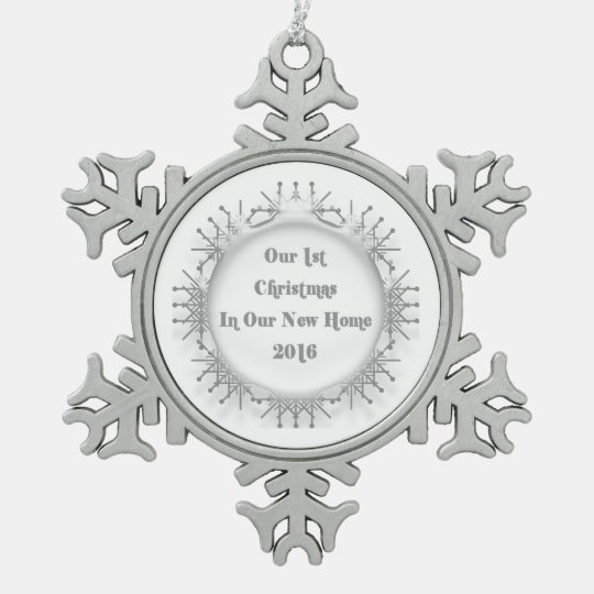 2016 New Home Our 1st Christmas Snowflake Pewter Snowflake Ornament
