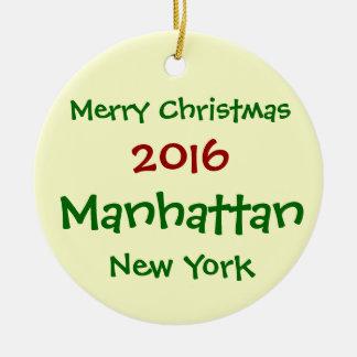 2016 NEW YORK MANHATTAN MERRY CHRISTMAS ORNAMENT