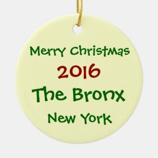 2016 NEW YORK THE BRONX MERRY CHRISTMAS ORNAMENT