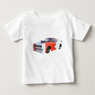 2016 Orange and White Muscle Car Baby T-Shirt