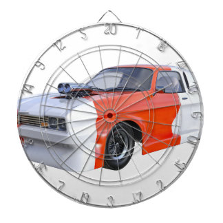 2016 Orange and White Muscle Car Dartboard