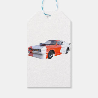 2016 Orange and White Muscle Car Gift Tags
