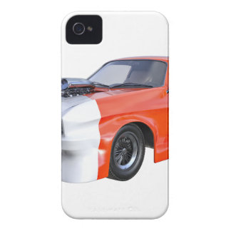 2016 Orange and White Muscle Car iPhone 4 Case
