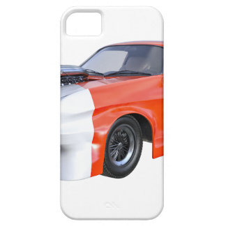 2016 Orange and White Muscle Car iPhone 5 Case