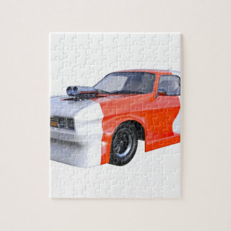 2016 Orange and White Muscle Car Jigsaw Puzzle