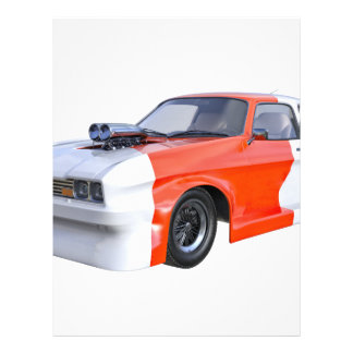 2016 Orange and White Muscle Car Letterhead