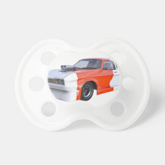 2016 Orange and White Muscle Car Pacifier