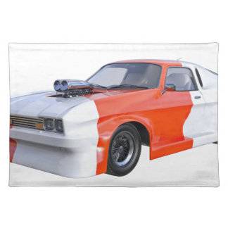 2016 Orange and White Muscle Car Placemat