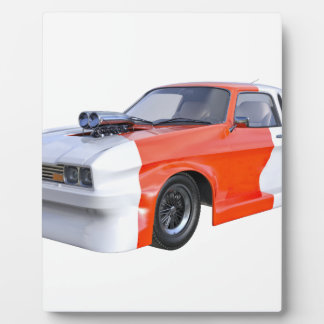 2016 Orange and White Muscle Car Plaque
