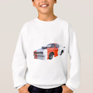 2016 Orange and White Muscle Car Sweatshirt