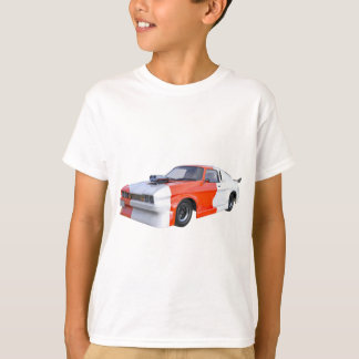 2016 Orange and White Muscle Car T-Shirt