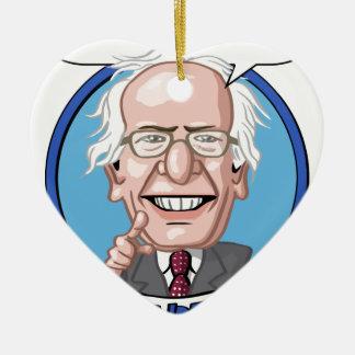 2016 Presidential Election Ceramic Heart Ornament