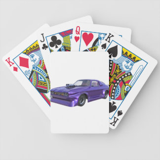 2016 Purple Muscle Car Bicycle Playing Cards
