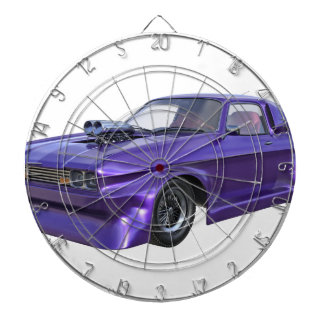 2016 Purple Muscle Car Dartboard