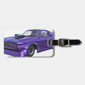 2016 Purple Muscle Car Luggage Tag