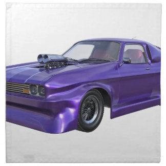 2016 Purple Muscle Car Napkin