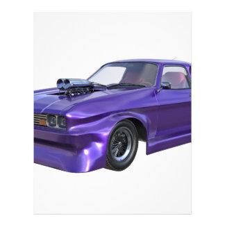 2016 Purple Muscle Car Personalized Letterhead